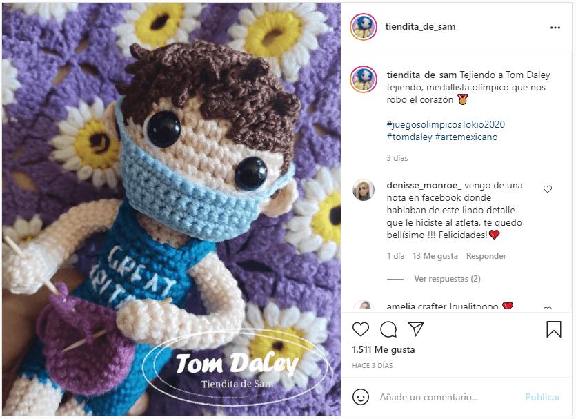 Homenaje Tom Daley en Instagram
