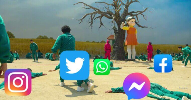 caída redes sociales meme